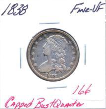 1838 Capped Bust Quarter Grade: Fine-VF