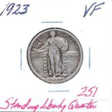 1923 Standing Liberty Quarter Grade:  VF