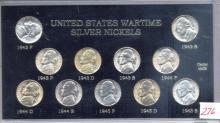 Wartime Nickel Set 1942-1945