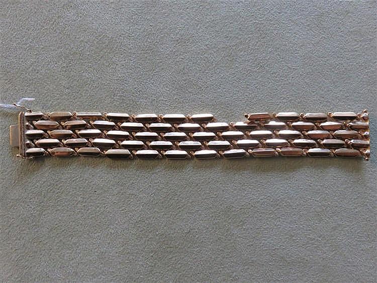 Bracelet en or jaune. 40,1 g. (accident)