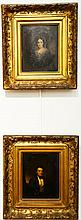 GEORGE LINEN (1802-1888)  Pair of small oval portraits  Dudley Sanford Gregory (1800-1874)  and his Wife  Ann Maria Gregory...