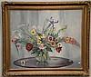 JOHANN BERTHELSEN (1883-1972)  Still Life of Flowers on a Table  oil on canvas  signed lower right Johann Berthelsen  25