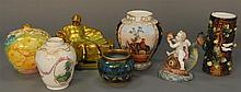 Seven piece lot including Royal Bonn, Zsolnay, Teplitz, etc.