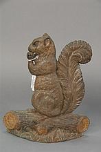 Bradley & Hubbard squirrel iron door stop, ht. 12in.