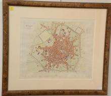 Two framed maps including L'Italie by Sr. Robert 1750 (19 3/4