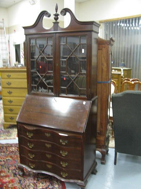 Mahogany Governor Winthrop Style Secretary Desk