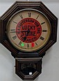 Lucky Strike RA Patterson Tobacco Co. wall regulator clock, ht. 25