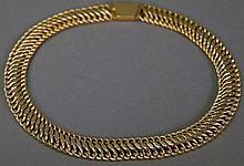 14K gold choker marked BB. 32.1 grams; lg. 16in.