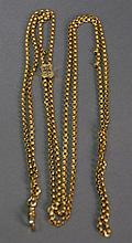 14K gold slide chain, 32