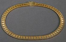 14k gold necklace. 38.8 grams, lg. 15in.