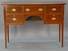 Carry Partelow custom cherry sideboard having three drawers over two drawers on square tapered legs, signed in drawer Carry Partelow...