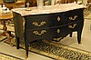 Louis XV style marble top commode, ht. 36in.; lg. 62in.; dp. 23in.