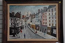 Adolfo Levier (1873-1953) Italian street scene oil on board signed lower right Levier, 21