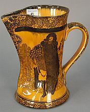 Royal Doulton Eastern figures Morrisianware large Tudor jug, ht. 9in.