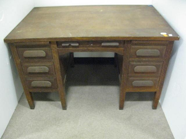 J K Rishel Furniture pany oak desk
