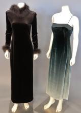 Sixteen women's dresses including Emanuel Ungaro, Halston, Luca Luca, Joan Leslie, Marikos Originals, etc.