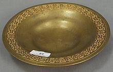 Tiffany gilt bronze shallow bowl marked Tiffany Studios NY 1707. dia. 9in.