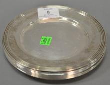 Seven sterling silver bread plates. dia. 6 1/2 in.; 16.2 t oz.