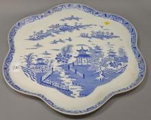 Large Royal Worcester shaped platter. dia. 19 1/2 in.