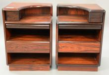 Pair Brouer Rosewood side cabinets. ht. 30 in.; wd. 21 in.; dp. 18 in.