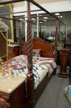 Ethan Allen four post plantation canopy bed, queen size. ht. 84 1/2 in.