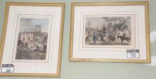 Set of ten Harpers Weekly hand colored lithographs, all framed and matted matching by Wesley Allen Framemakers. average size 10