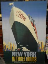 R. Crawford New York in Three Hours Circle Line mounted poster, Sailing from Pier 83, Design: McCaffery & Ratner. 68
