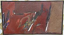 Budd Hopkins (American, 1931-2011), Juarez, acrylic on canvas, signed lower right 'Hopkins 63', 18