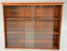 Mid-Century Willett bookcase with sliding glass door, ht. 36
