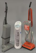 Two vacuums Oreck XL Commercial and Electrolux, along with Honeywell air purifier.