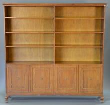Large teak bookcase/cabinet. ht. 72