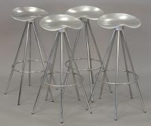 Four Pepe Cortes bar stools, made in Spain by Amat Jamaica Barstool. ht. 31 1/2