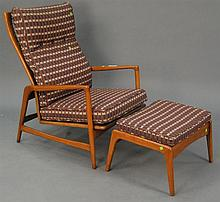 lb Kofod-Larsen lounge chair and ottoman in very good condition.