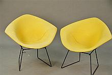 Pair of Knoll Bertoia diamond chairs, good condition.