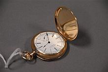 American Waltham 14K gold closed face pocket watch (no glass).