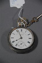J.G. Graves Sheffield silver open face pocket watch marked The Express English Lever.