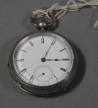 Jos Johnson Liverpool silverplated closed face pocket watch.