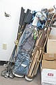 Three sets of golf clubs and two bags, Taylor Made Tour Class T Line, Toney Penna, and several other makers.