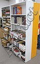 Four painted bookcases.