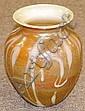 Art glass vase signed on bottom.