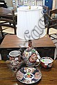 Four piece lot of Imari porcelain including a table lamp.