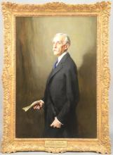 Philip A. deLaszlo (1869-1937)  3/4 length portrait of Andrew William Mellon (1855-1937)  oil on canvas, painted from life in 19...