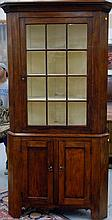 Chippendale corner cabinet in two parts, circa 1780, ht. 78 in.; wd. 42 in.