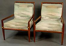 Pair of Robsjohn Gibbings lounge chairs by Widdicomb, ht. 31 in.; wd. 26 in.; dp. 28 in.