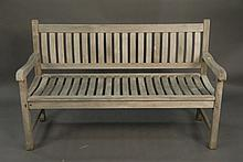 Teakita teak bench, wd. 59in.