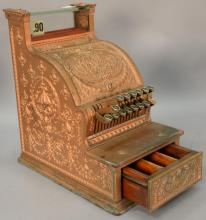 National Candy Store cash register, model 313 (missing marble). ht. 17