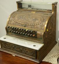 National brass cash register, model 332. ht. 17