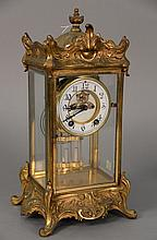 Louis XV style regulator clock. ht. 15 in.