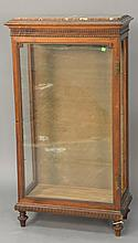 Continental style curio cabinet with marble top, late 19th to early 20th century. ht. 51 in.; wd. 27 1/2 in.; dp. 13 1/2 in.