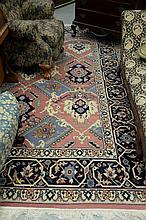 Oriental room size rug. 8'11